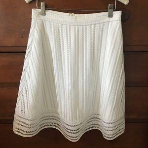 J.crew white A-line skirt